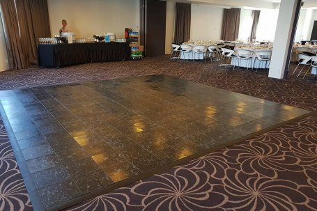 Dance floor black
