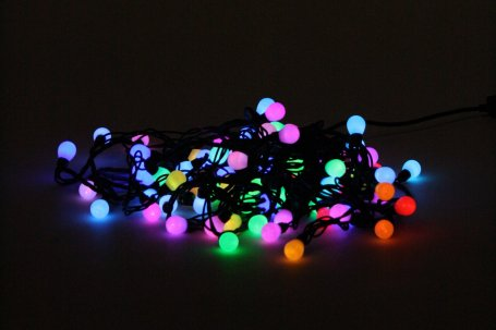 Festoon lights coloured 10 mtr