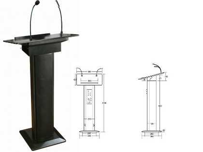 Lectern with speakers