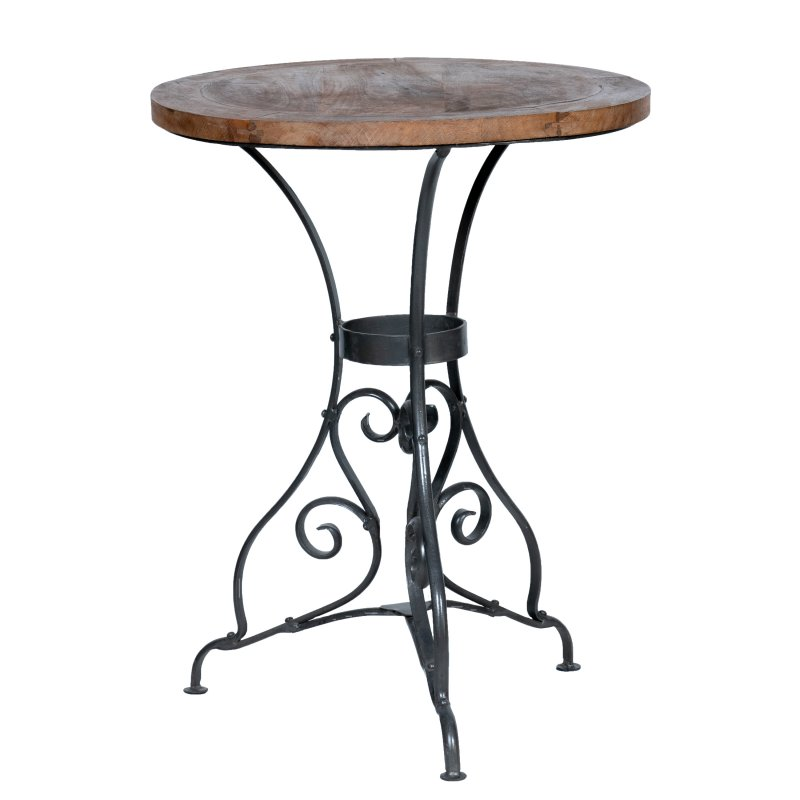 Table round wooden top 610mm