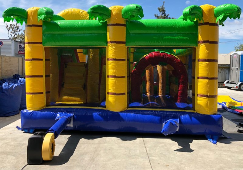 Bouncy castle jungle crocodile