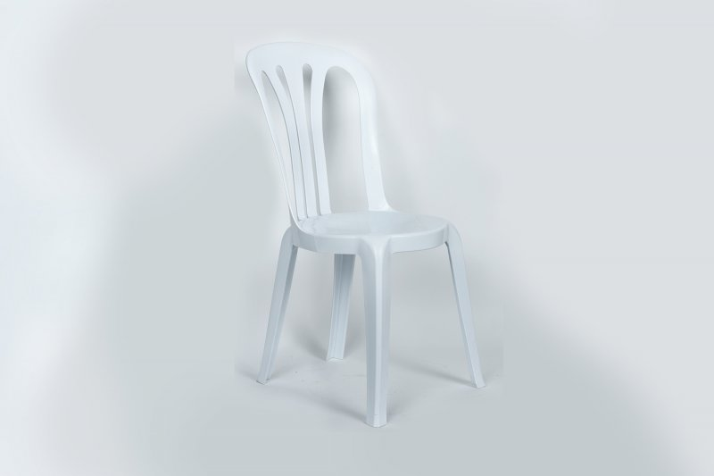Chair Cafe Stacking White