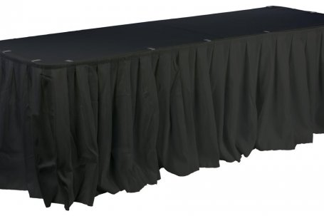 Table skirting 6 mtrs Black