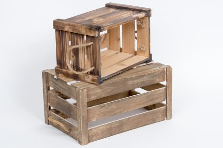 Apple boxes set of two